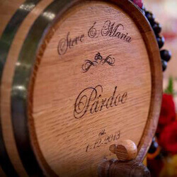 Custom Designer Oak Barrels As Unique Groomsmen Gifts