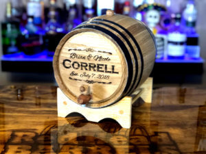 1 liter personalized oak aging barrel by Red Head Barrels