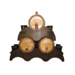 Oak Aged Barrels Three Stack With Shot Glass Stand
