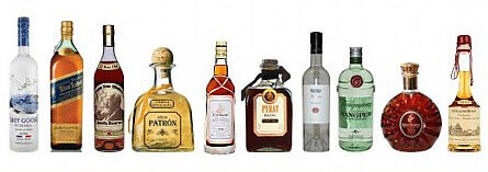 How many calories in whiskey bourbon rum tequila and brandy red