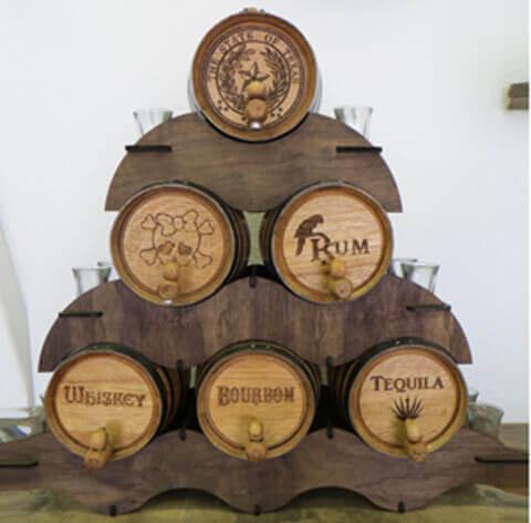 how to put rum in an oak barrel