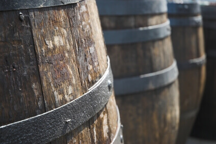 American Oak Barrels Matures Whiskey And Wine