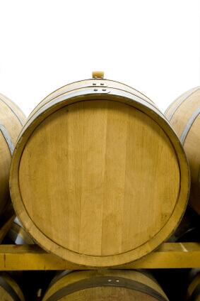 Oak barrels for aging liquor