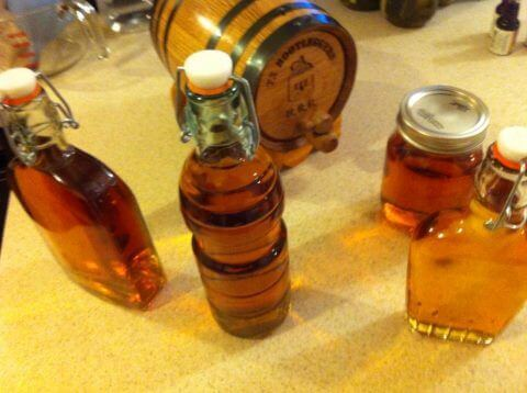 aged spirits and barrel