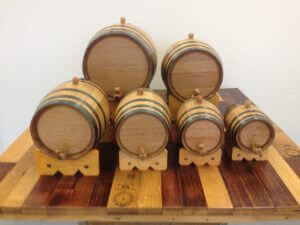 mini whiskey barrels