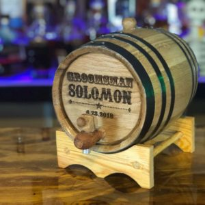 engraved groomsman barrel