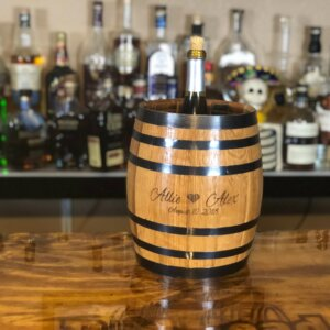 engraved ice bucket barrel
