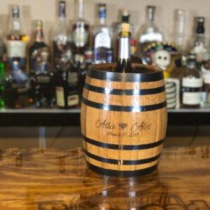 engraved ice bucket barrel