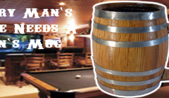 man cave barrel mugs