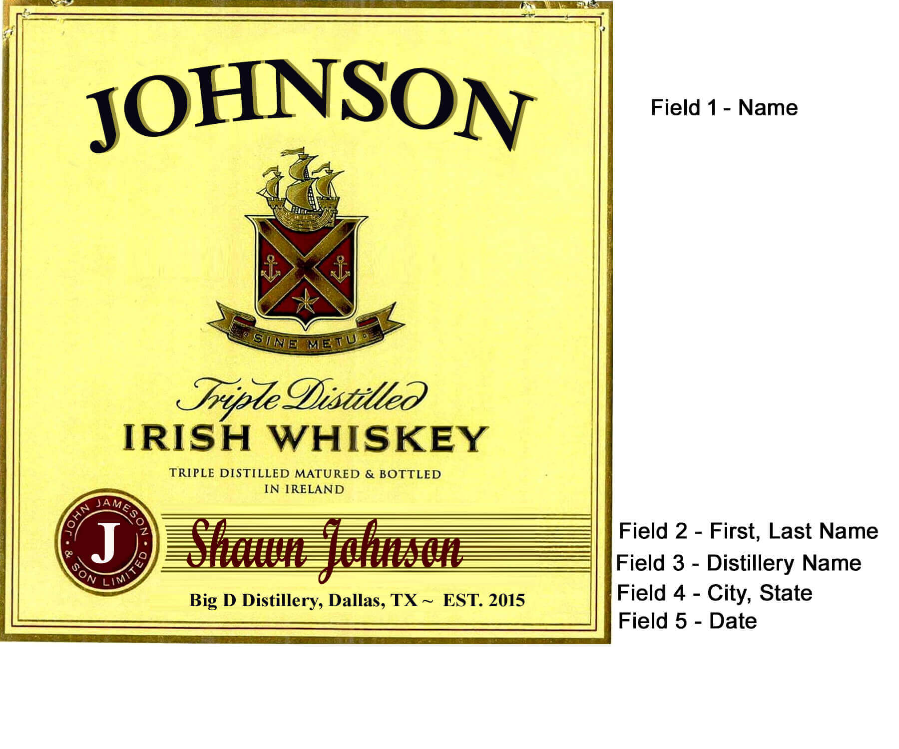 customized personalized liquor bottle labels