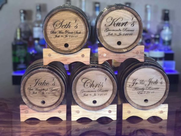 Best man groosman personalized barrels gifts