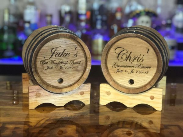best man and Groomsmen engraved barrels