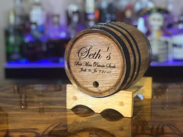 best man custom engraved barrel gift