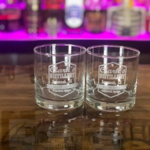 etched whiskey glasses set