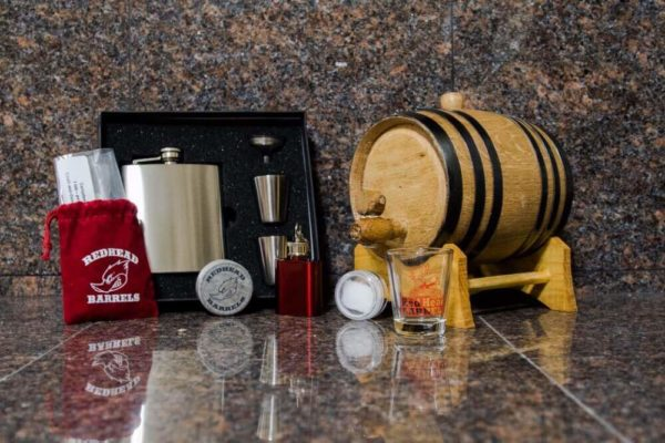1 Liter Bronze Barrel Gift Package