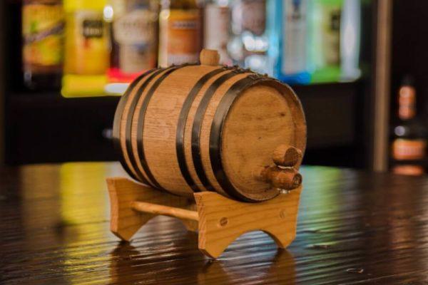 1 Liter Oak Rum Infused Barrel