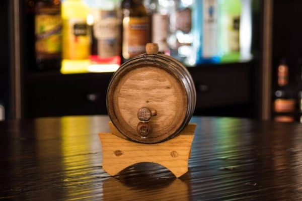 1 Liter Rum Infused Barrel front