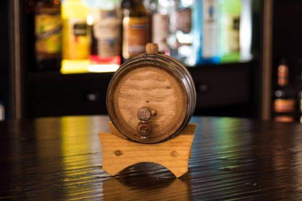 1 Liter Rum Infused Barrel front