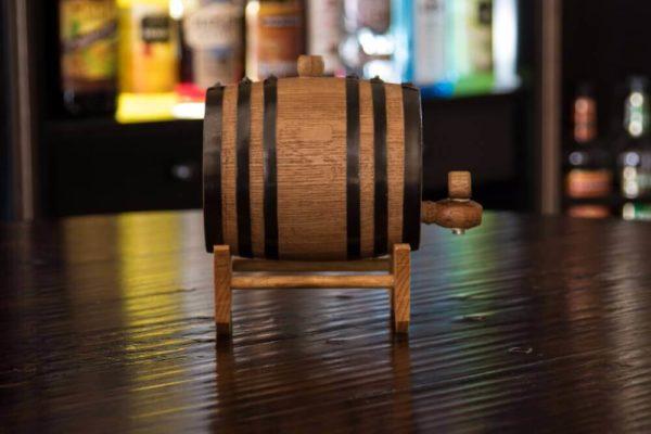 1 Liter Rum Infused  Barrel side