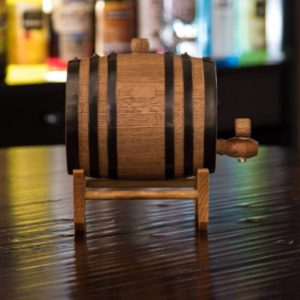 1 Liter Whiskey Infused Barrel side