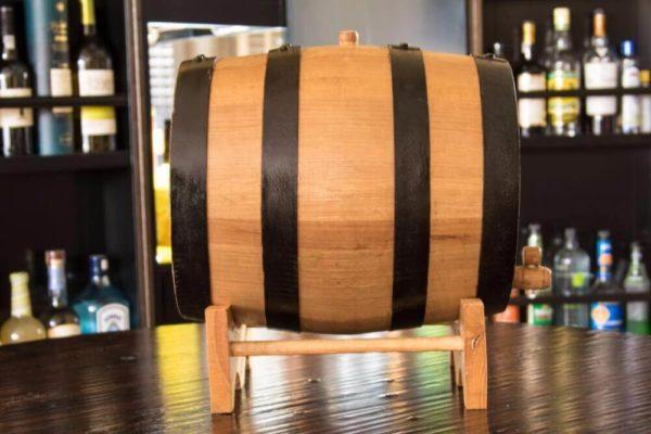 20 Liter Ageless Oak Barrel Side