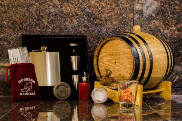2 Liter Bronze Barrel Gift Package