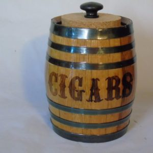 2 Liter Cigar Barrel Engraved