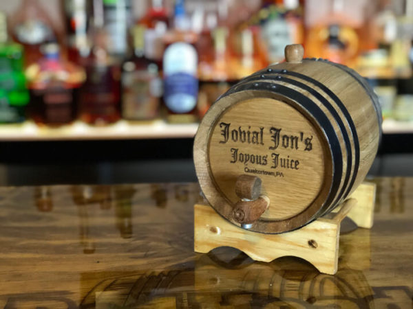 2 liter engraved oak Barrel