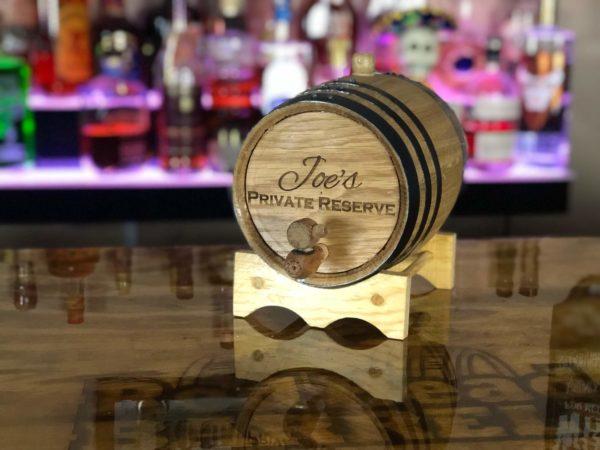 3 liter oak aging barrel engraved