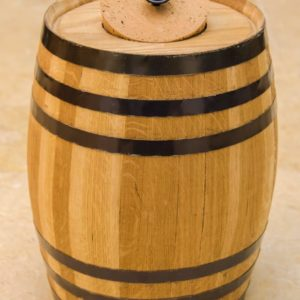 5 Liter Oak Barrel Canister