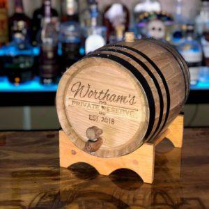 5 liter oak Barrel engraved