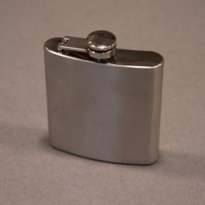 6 ounce Stainless Steel Flask Left