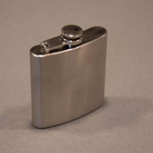 6 ounce Stainless Steel Flask Right