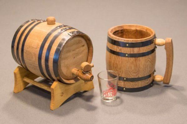Aging Barrel and Mug Gift Set