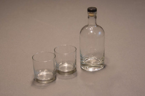 Bourbon Bottle and Whiskey Glasses Set