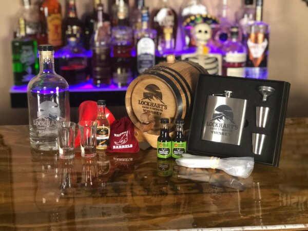 Gold gift package oak barrel