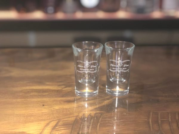 shot glasses etched