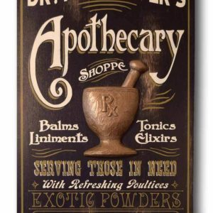 DUB 21 apothecary sign