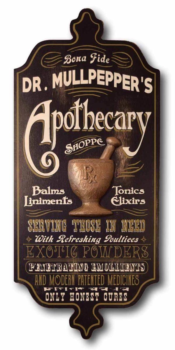 DUB 21 apothecary sign