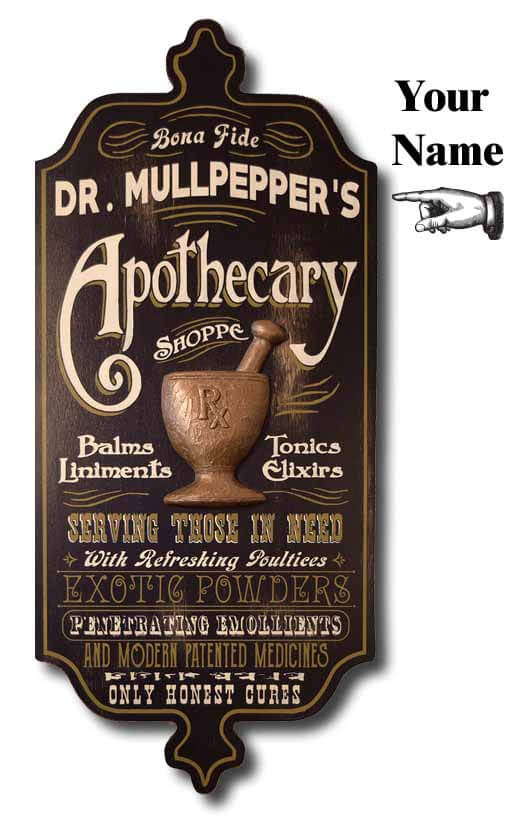 DUB 21x apothecary sign