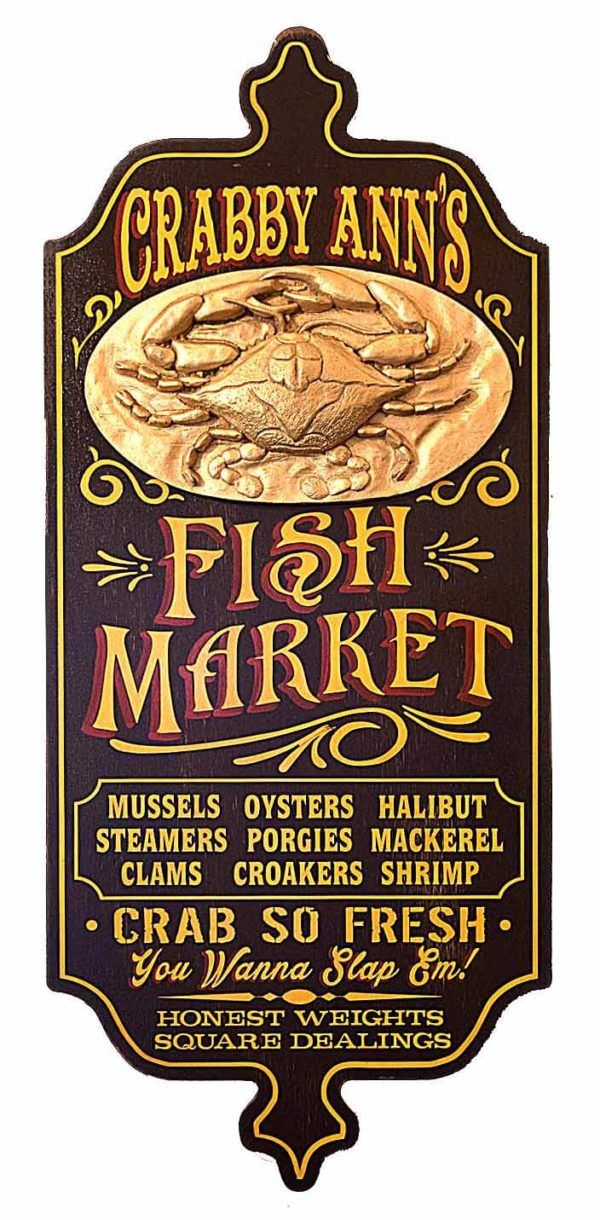 DUB 23 fish market sign
