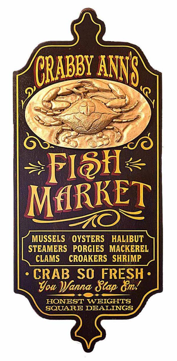 DUB 23 fish market sign