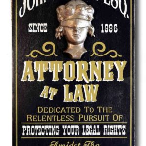 DUB 25 attorney at law sign