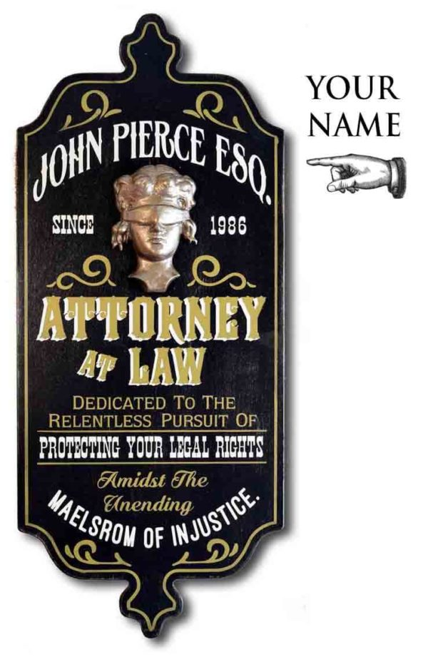 DUB 25x attorney at law sign