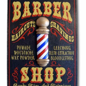 DUB 27 2 barber shop sign