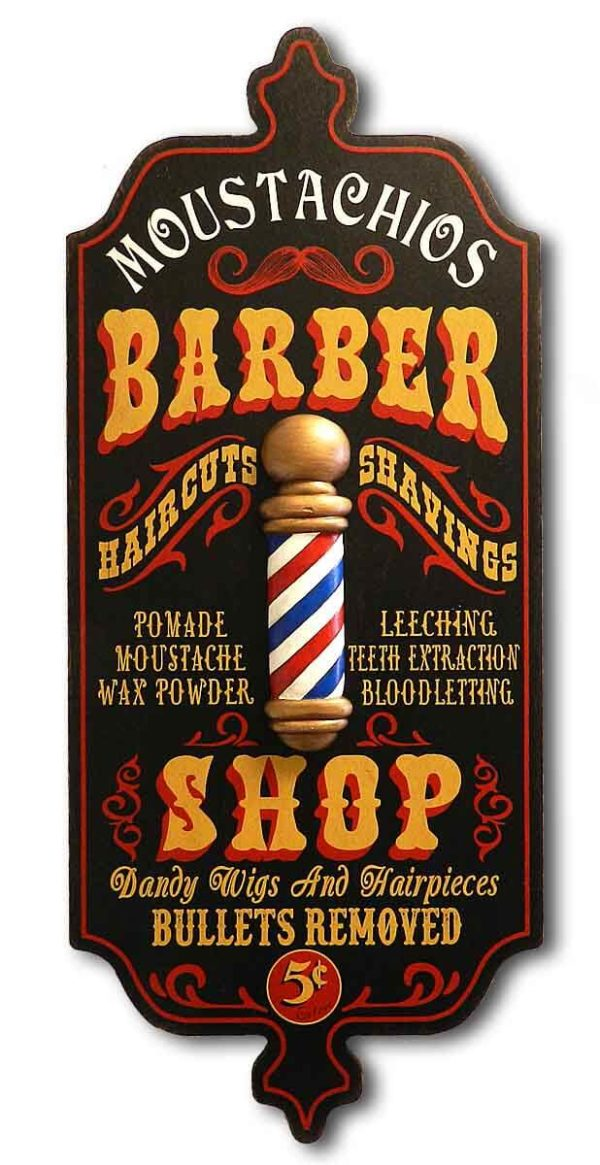 DUB 27 barber shop sign