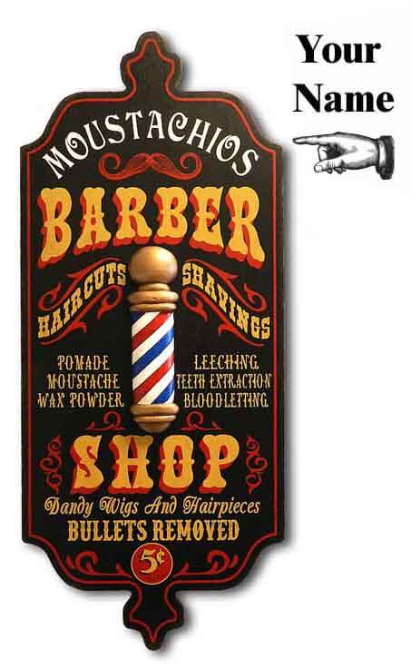 DUB 27x barber shop sign