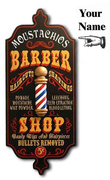 DUB 27x barber shop sign