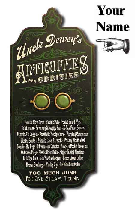 DUB 31x antiquities sign