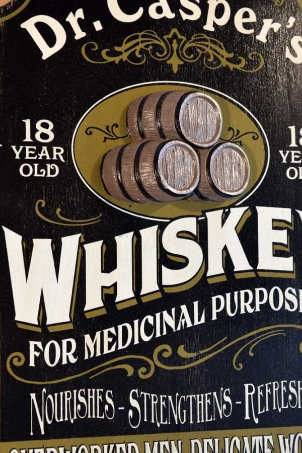 DUB 35 2 whiskey retro sign